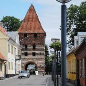 Mølleporten town gate in Stege. Originally part of a defensive wall structure built in the 1400's.
