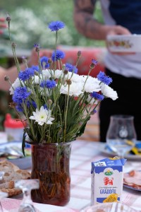 Beautiful table setting with Swedish wild flowers.